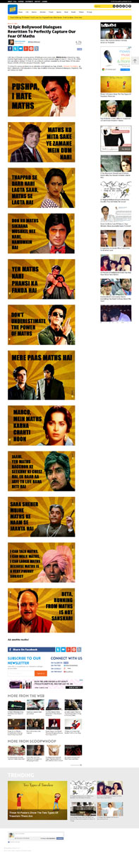 12 Epic Bollywood Dialogues Rewritten To Perfectly Capture Our Fear Of Maths