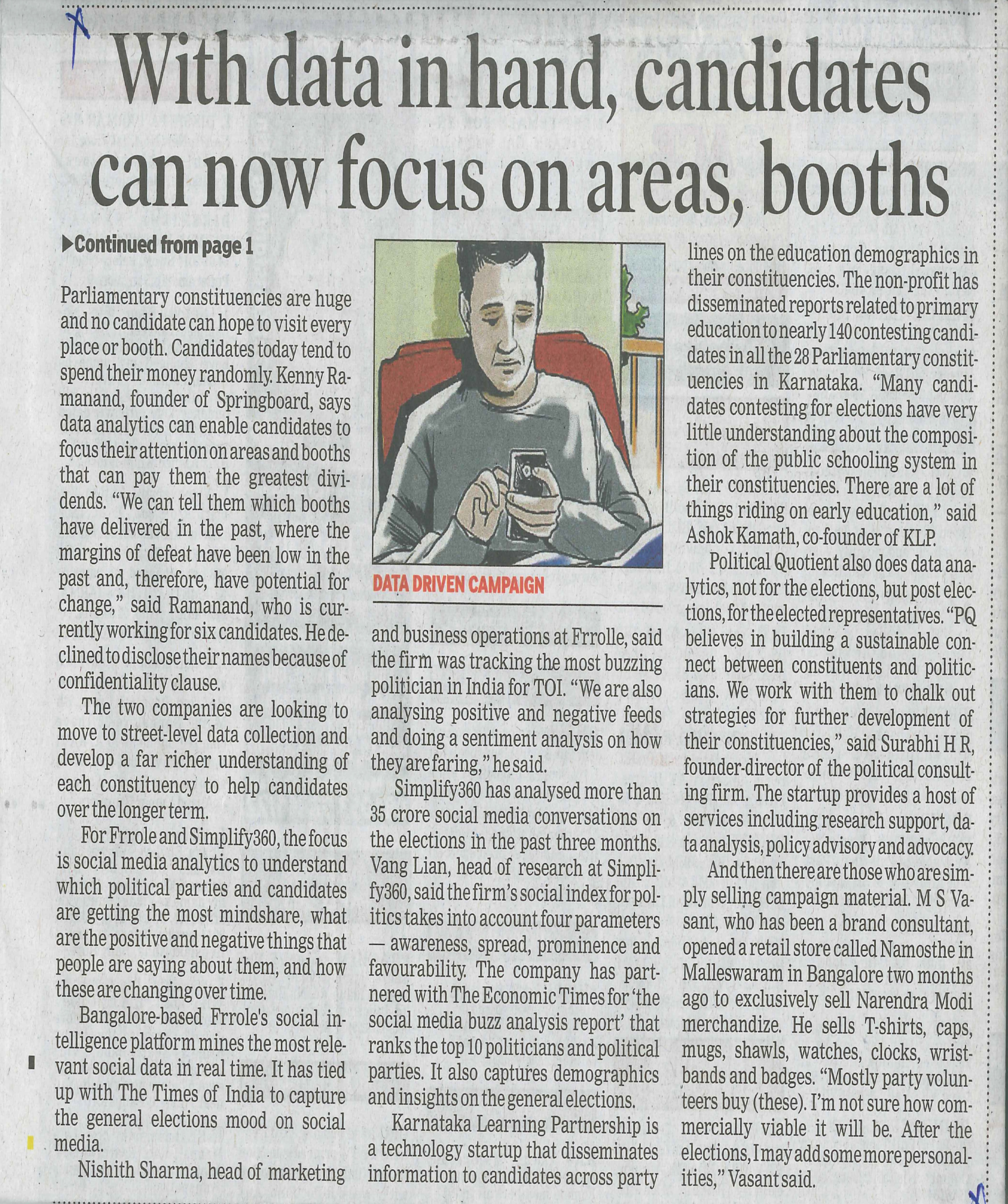 With data in hand candidates can now focus on areas booths