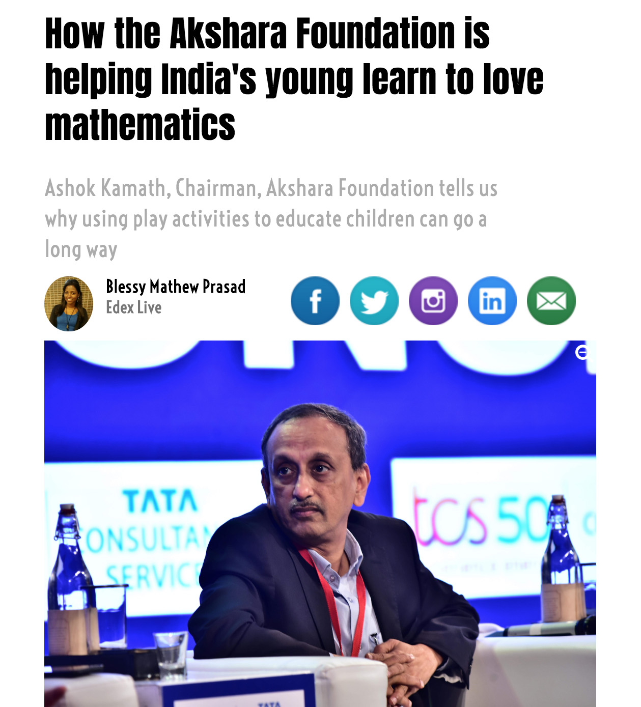 How the Akshara Foundation is helping India's young learn to love mathematics