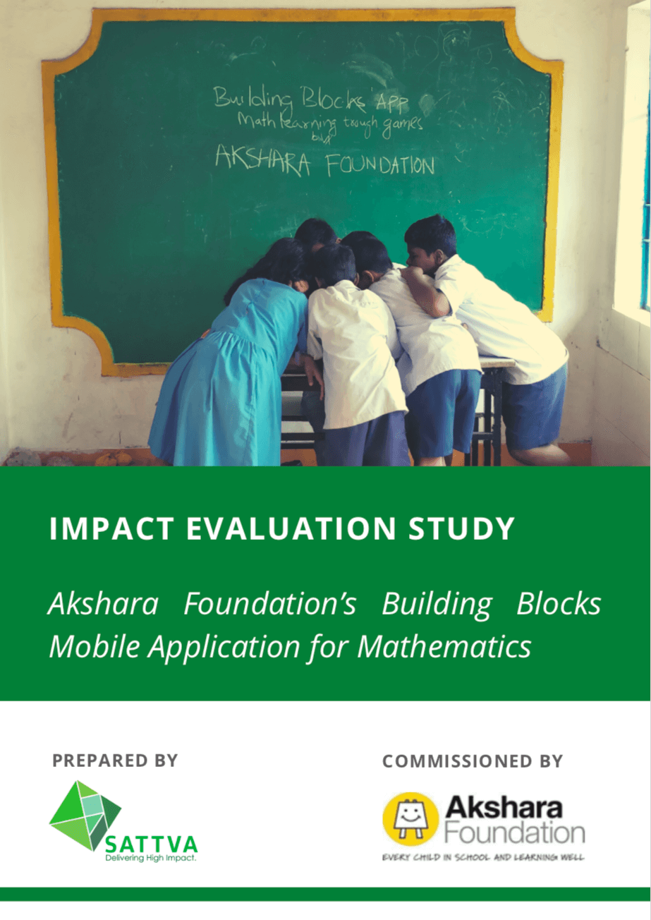 Impact Evaluation study - Akshara Foundation's Building Blocks Mobile Application for Mathematics