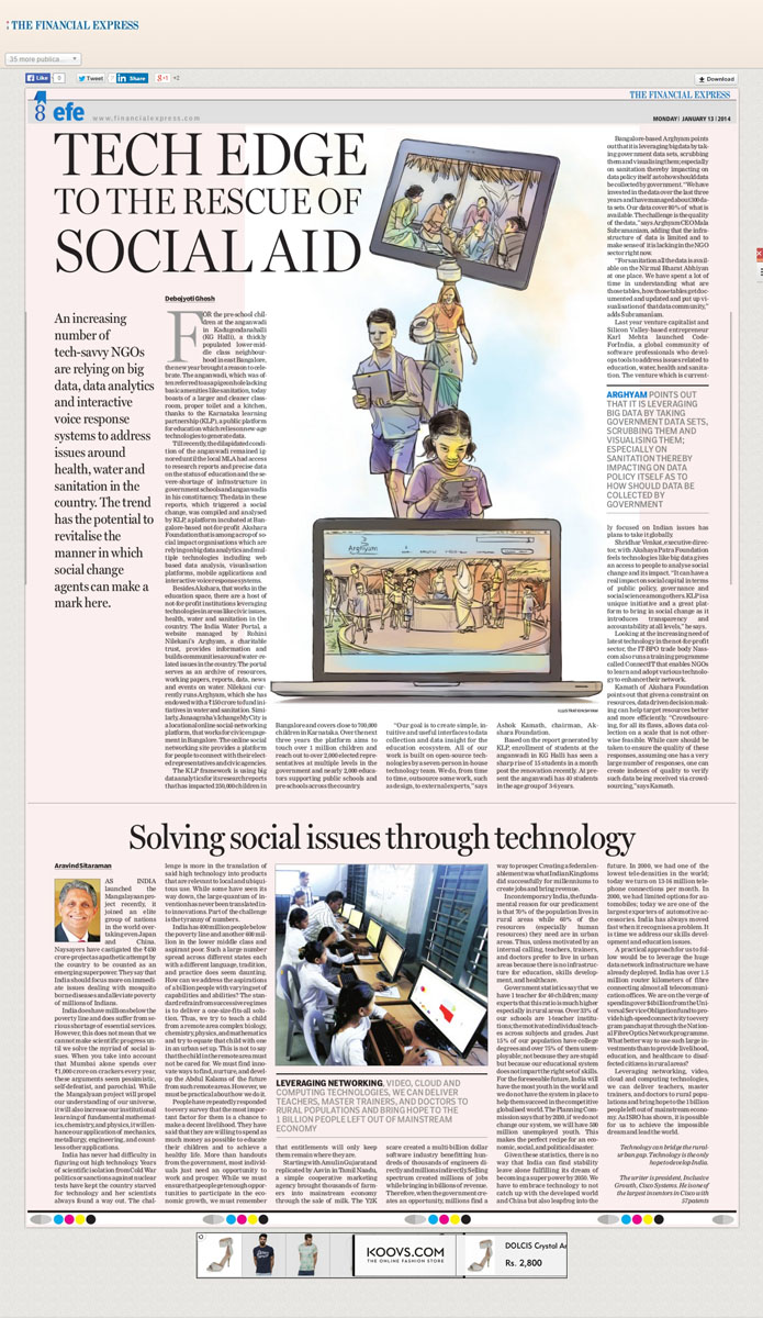 Tech Edge to the Rescue of Social Aid